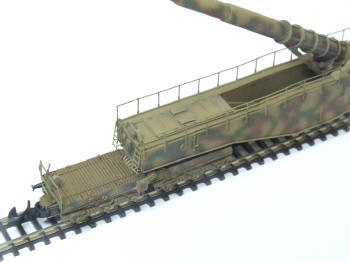 Steel ladders are very finely detailed. The front truck details includes the handbrake. The trucks swivel, and the model is capable of traversing Z scale curves.